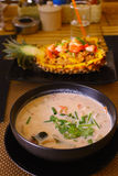 Thai food restaurant stuffed  pineapple Stock Photography
