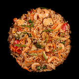 Thai food with rice seafood and chicken meat Royalty Free Stock Photo