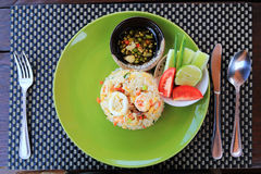 Thai food, seafood fried rice Royalty Free Stock Photography