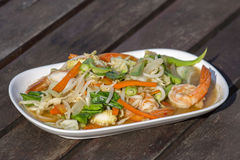 Thai food, seafood with vegetable spicy salad Stock Photo