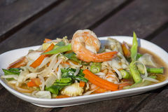 Thai food, seafood with vegetable spicy salad Stock Photos