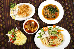 Thai food set for health Stock Photo