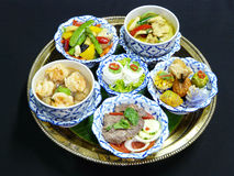 Thai food set menu Royalty Free Stock Image