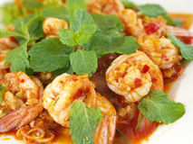 Thai food shrimp Stock Image
