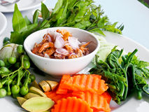 Thai food, shrimp paste with fresh vegetables 2 Stock Photography