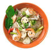 Thai Food Shrimp soup with mushrooms Royalty Free Stock Image