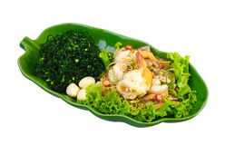 Thai food shrimps spicy salad Royalty Free Stock Images