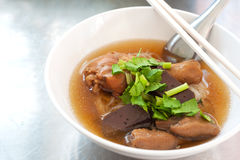 Thai food, sizzling chicken noodle Stock Image