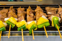 Thai food - skewer Royalty Free Stock Images