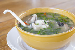 Thai food snakehead fish Hot and sour soup Royalty Free Stock Photo