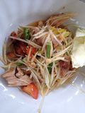Thai food. Som tam thai kai yang Stock Photography