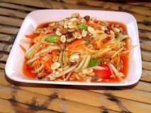 Thai food / somtum  04. A  photo  of  delicious   thai food / somtum Royalty Free Stock Photos