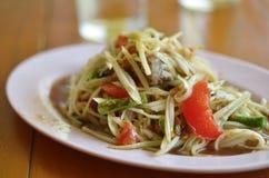 Thai food Somtum. Papaya spicy salad, Thai food Somtum Stock Photo
