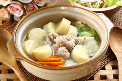 Thai food soup. Thai cuisine name Pork soup Royalty Free Stock Image
