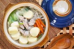 Thai food soup. Thai cuisine name Pork soup Stock Image