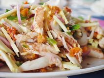 Thai food. Spicy crab and crustacean eggs salad seafood Stock Images