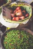 Thai food. Spicy food at Damnoen Saduak Floating Market near Ban Stock Images