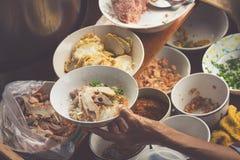 Thai food. Spicy food at Damnoen Saduak Floating Market near Ban Royalty Free Stock Images