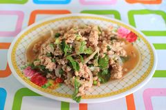 Thai food spicy minced pork salad (Larb) Stock Photography