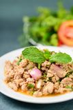 Thai food, spicy minced pork salad Larb Moo. Homemade food Stock Photography