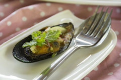 Thai food spicy Mussel Stock Images