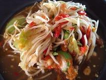Thai food. Spicy papaya salad Stock Photo