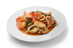Thai Food Spicy Pork, shrimp, squid Curry Royalty Free Stock Photo