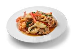 Thai Food Spicy Pork, shrimp, squid Curry Royalty Free Stock Photo