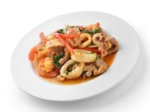 Thai Food Spicy Pork, shrimp, squid Curry Stock Images