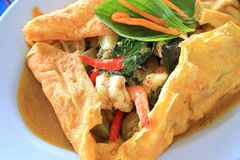 Thai Food Spicy Seafood Curry Stock Photo