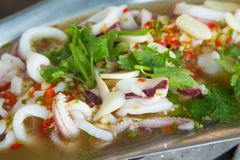 Thai Food Spicy Squid Curry Royalty Free Stock Photography