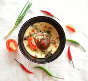 Steamed egg. Thai food Stock Images