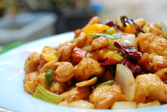 Thai Food,stir Fired Chickken With Cashew Nuts Royalty Free Stock Photos