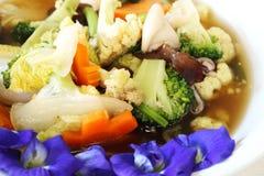 Thai food, stir-fried mixed vegetable Stock Photos