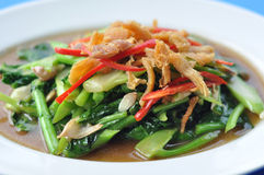 Thai Food : Stir-fried vegetables with chicken Royalty Free Stock Photo