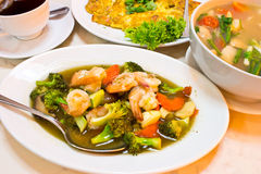 Thai food, Stir-fried vegetables Stock Images