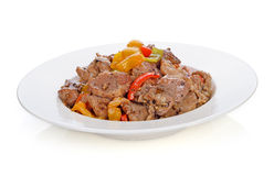 Thai food. stir fry pork with pepper chilli Stock Image