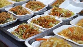 Thai food, street Food Fried Noodle stock video