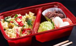 Thai Food Style In Bento Rice Box Royalty Free Stock Image