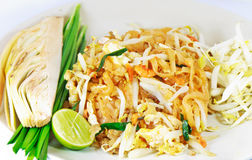 Thai food style , stir-fried rice noodles (Pad Tha Royalty Free Stock Image