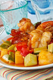 Thai Food,Sweet and Sour Shrimp. Thai Food, Stir fry shrimp in sweet and sour sauce (Pad Priaw Wan Shrimp Royalty Free Stock Images
