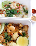Thai food takeaway dishes Royalty Free Stock Photo