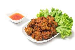 Thai Food Thai Fried Fish Cake Called Tod Mun Pla Royalty Free Stock Images