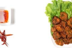 Thai Food Thai Fried Fish Cake Called Tod Mun Pla Stock Images