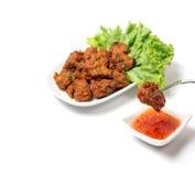 Thai Food Thai Fried Fish Cake Called Tod Mun Pla Royalty Free Stock Photos