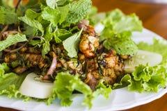 Thai food, Thai Spicy minced pork salad Stock Photography