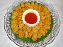 Thai food, tod mun goong Stock Images