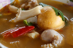 Thai tom yam with small eeg Stock Images