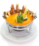 Thai food tom yam spicy soup stock images
