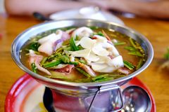 Thai food Tom Yam very spicy stock images